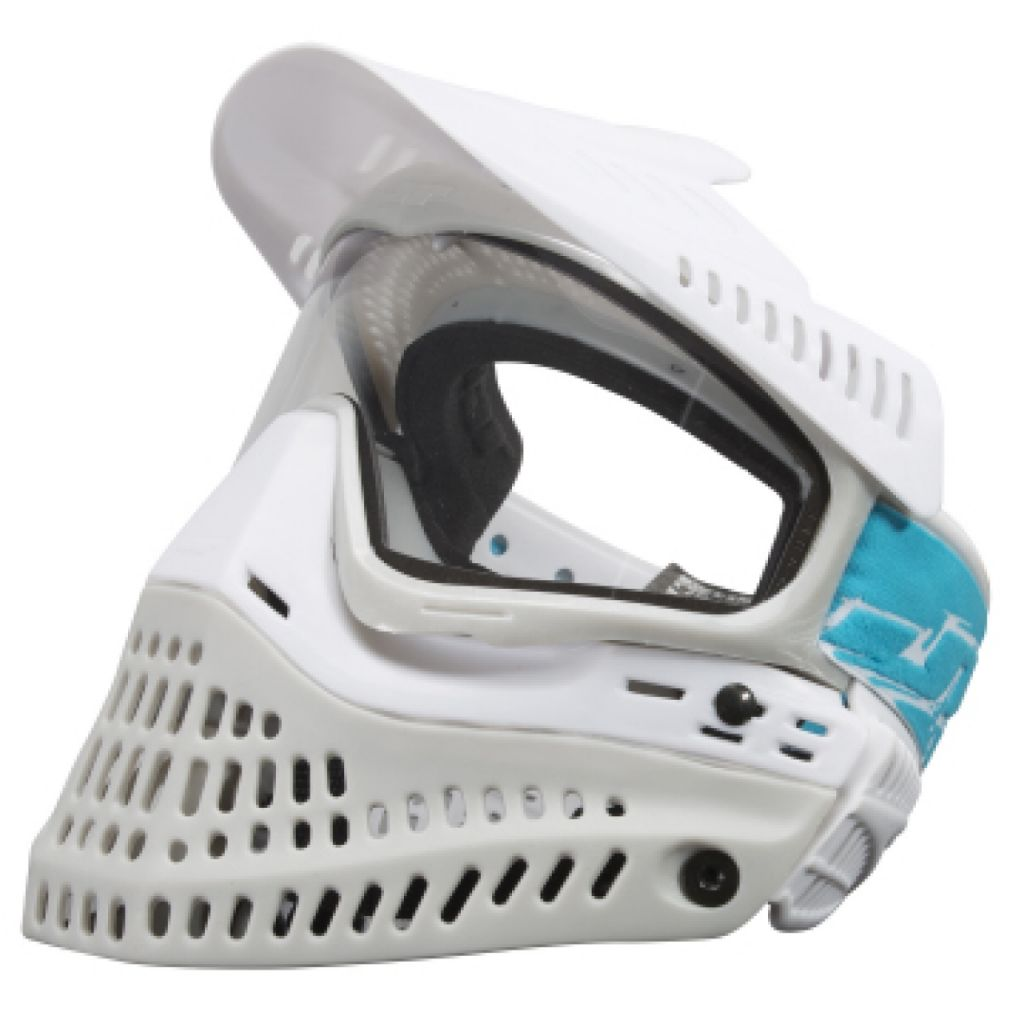 JT Spectra Proflex LE Thermal paintball maszk (white grey blue)