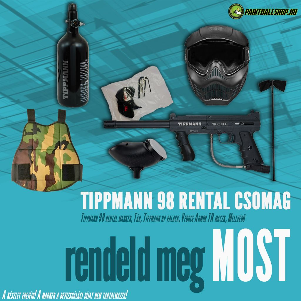 Paintball Field- Rental Combo Paintball felszerelés (Tippmann Rental)
