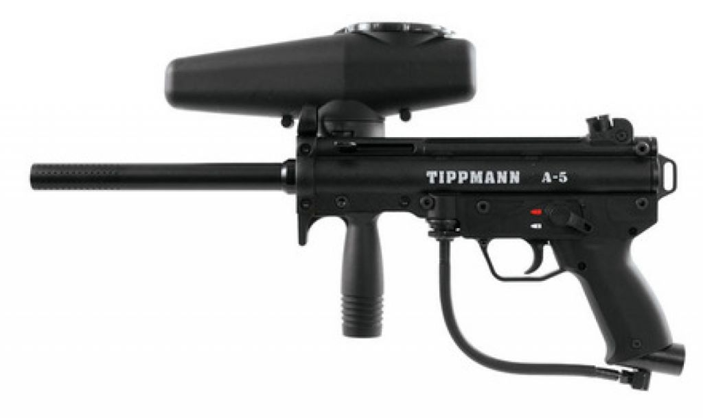 Tippmann A5 with Response Trigger paintball marker