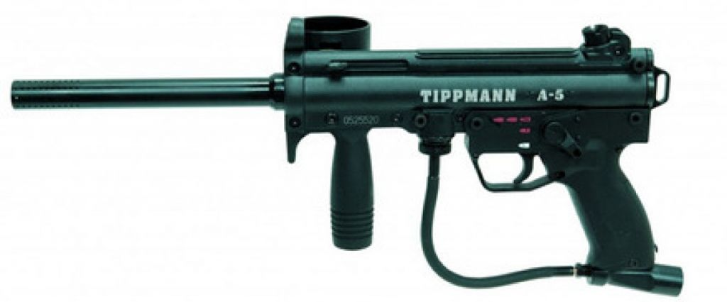 Tippmann A5 with Selector Switch eGrip paintball marker